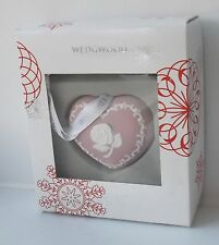 Rare Wedgwood Pink Jasper Heart Xmas Tree Decoration - New and Boxed