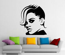 Rihanna Head Wall Decal Music Singer Vinyl Sticker Art Decor Mural (190s)