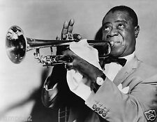 Vintage Photo/Poster-B/W - Louis Armstrong/Jazz/Satchmo/Pops