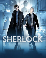Sherlock Benedict Cumberbatch and Martin Freeman TV Poster British Art Print BBC