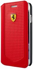 "Genuine Ferrari Victory Carbon Book Case Cover for iPhone 6 6s 4.7""  Red"