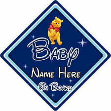 Personalised Disney Baby On Board Car Sign – Winnie The Pooh DB