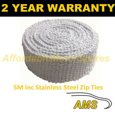 RTG HEAVY DUTY CAR & MOTORCYCLE EXHAUST HEAT WRAP 5M INCLUDING S/STEEL CLIPS
