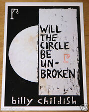 BILLY CHILDISH WILL CIRCLE UNBROKEN  SIGNED ICA EXHIBITION POSTCARD UACC DEALER