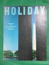 Vintage HOLIDAY Magazine May 1956 ELLIOTT ERWITT Cover Photo MARI SANDOZ & More