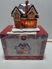 Enchanted Forest Winter Village Bakery Fiber Optic House Christmas 2004 RETIRED