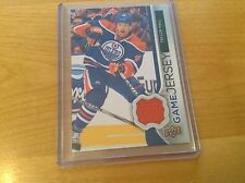 14-15 2014-15 UPPER DECK TAYLOR HALL UD GAME USED JERSEY GJ-TH EDMONTON OILERS