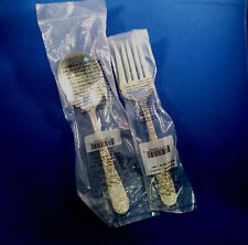 REPOUSSE-KIRK ALL STERLING 2 PIECE LARGE SALAD SET-NEW IN BAG