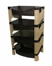 Stylish Galaxy HQ 4 Tier Plastic Fruit Vegetable Kitchen Storage Rack Trolley CS