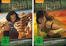 2 DVDs * DIE LEGENDE VON KORRA - BUCH 4 : GLEICHGEWICHT - VOLUME 1+2 # NEU OVP +