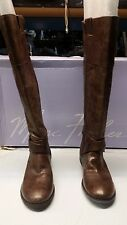 Marc Fisher Amber Wide Calf Women Brown Knee High Boot  5.5W blemishes