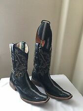 Stingray (mantarraya) Western Men's Boots Size 27mex 8us With Matching Belt
