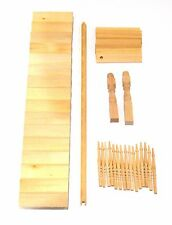 1:12 Self Assembly Natural Finish Dolls House Miniature Straight Stair Kit 46