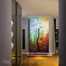 """O8P597 20X42""""Hand painted Oil Paintings Art home Decor Abstract flower NO Frame"""