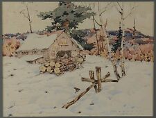 James M Donnell (1884-1957) Watercolour Painting Quebec Canadian Listed