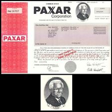 Paxar Corporation NY 2001 Stock Certificate