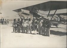 Photo MADAGASCAR Aviation MOENCH & CATINOT- 1934 - ALSA - Pilotes et Gouverneur