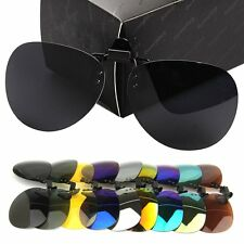 New Unisex Polarized Aviator Driving Clip-on Flip-up Lens for Sunglasses Glasses