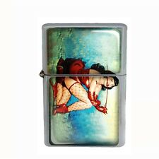 Wind Proof Dual Torch Refillable Butane Lighter Pin Up Girl Design-003