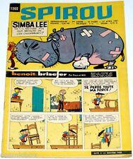Le journal SPIROU n° 1202 de 1961 magazine sans mini récit revue Benoit Brisefer