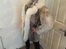 Arctic Fox Genuine Sacks And Brendlor Fur Coat Size s