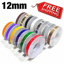 "12mm 1/2"" PIN STRIPE PinStriping SINGLE Line TAPE Decal Stickers Car Motorcycles"