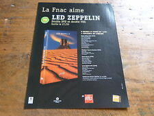 LED ZEPPELIN - Publicité de magazine / Advert LIVE !!!!!!!!!