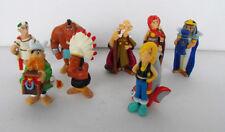 Rare ASTERIX Obelix LOT OF 8 Plastic FIGS i.e. Cleopatra Asterix Indian Caesar