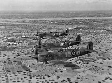 B&W WW2 Photo WWII Spitfire Fighters in Tunisa 1943 RAF