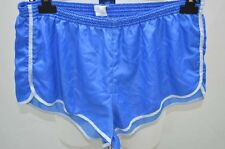 SHORT DE COURSE GAY NYLON VINTAGE RETRO XL BLEU