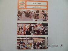 CARTE FICHE CINEMA 1967 PLAY TIME Jacques Tati Barbara Dennek Reinhart Kolldehof