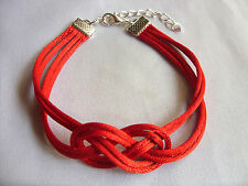 A Red STRING KABBALAH LUCKY infinity knot BRACELET Against Evil Eye for Success