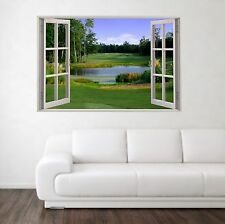 Golf Course 1 Scene 3D Full Colour Window Home Wall Art Stickers Mural Decal