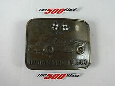 Indianapolis 500 IndyCar & Checkered Flag Bronze Belt Buckle Indy IMS