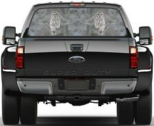 Owl Camo Designe Rear Window Graphic Decal for Truck SUV Vans