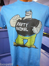 Men's Licensed Popeye Bluto Brutus Party Animal Shirt New L