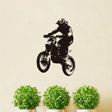Dirt Bike Rider Vinyl Wall Sticker Home Boys Bedroom Art Decal Removable Decor
