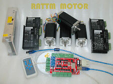USB Port!4 axis USBCNC Nema23 Dual shaft stepper motor 425oz-in,3A CNC kit
