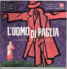 """Carlo Rustichelli-Colonna Sonora del Film L'Uomo Di Paglia EP 7"""" 1° Stampa"""