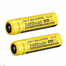 2 Pack NITECORE 18650 NL189 3400 mah 3.7V Rechargeable Battery Li-ion Protected