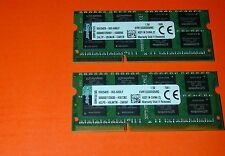 Kingston 16GB 2 x 8GB pc3-10600s LAPTOP MEMORY 204-Pin DDR3 SO-DIMM DDR3 1333