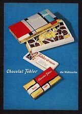 3w1730/ Alte Reklame von 1960 - Chocolat TOBLER - Die Weltmarke