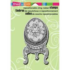 New Stampendous RUBBER STAMP cling FABERGE EGG EASTER SPRING Free us ship