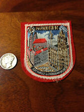 Vintage Germany German Munich München Bavaria Tourist Travel Souvenir Patch V-4