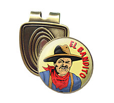 EL BANDITO FUSION CAP CLIP & MAGNETIC GOLF BALL MARKER IN BRONZE