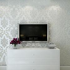 Victorian Luxury Embossed Wallpaper Rolls Home ImprovemenT 10M Beige LE