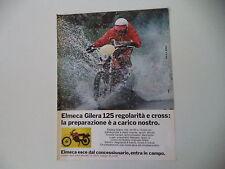 advertising Pubblicità 1977 MOTO GILERA ELMECA 125 REGOLARITA'