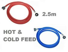 FILL HOSE 2.5m HOT & COLD FEED WASHING MACHINE DISHWASHER SAME DAY DISPATCH