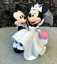 Disney Park Mickey and Minnie Mouse Wedding Bride Groom Cake Top Topper Figurine