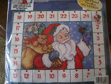Bucilla Counted Cross Stitch ADVENT CALENDAR Kit,COUNTDOWN TO CHRISTMAS,Santa